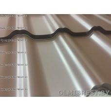 Модульная металлочерепица Plannja Flex Hard Coat коричневая