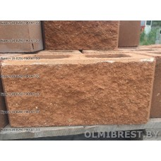 Блоки демлер в Бресте декоративные персиковые размер 20х20х40