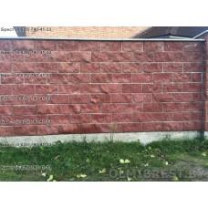 Блоки для забора в Бресте. Каменный забор