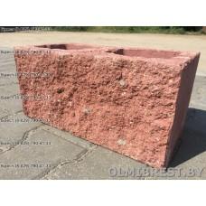 Блоки демлер в Бресте декоративные красные размер 20х20х40