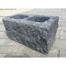 Блоки демлер в Бресте декоративные чёрные размер 20х20х40