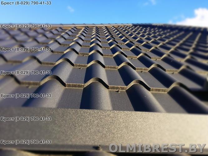 Фото металлочерепицы Blachotrapez Diament Plus RAL 9005 Mat TK в Бресте