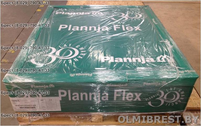 Фото модульной металлочерепицы Plannja Flex в палете