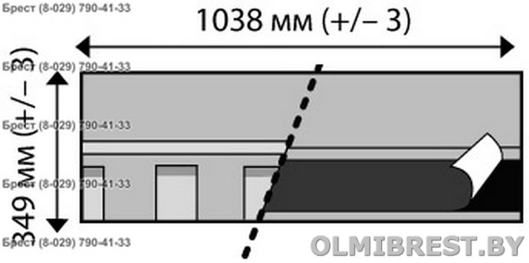 Размер гонта гибкой черепицы IKO Cambridge xtreme