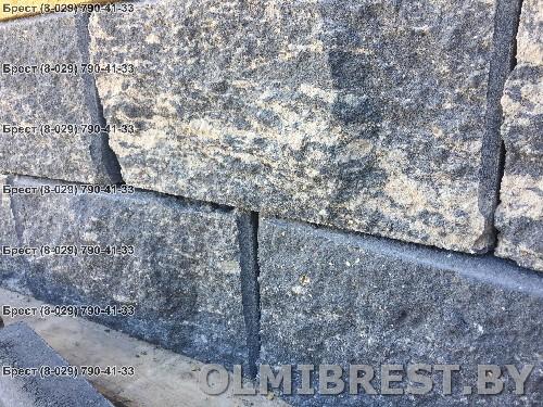 Чёрные и серые блоки для забора в Бресте