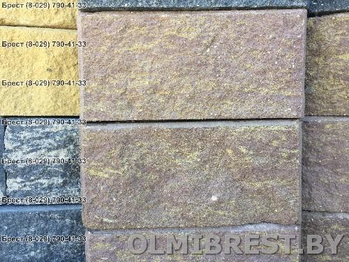 Фото блок для забора Испанский сланец в Бресте вид спереди