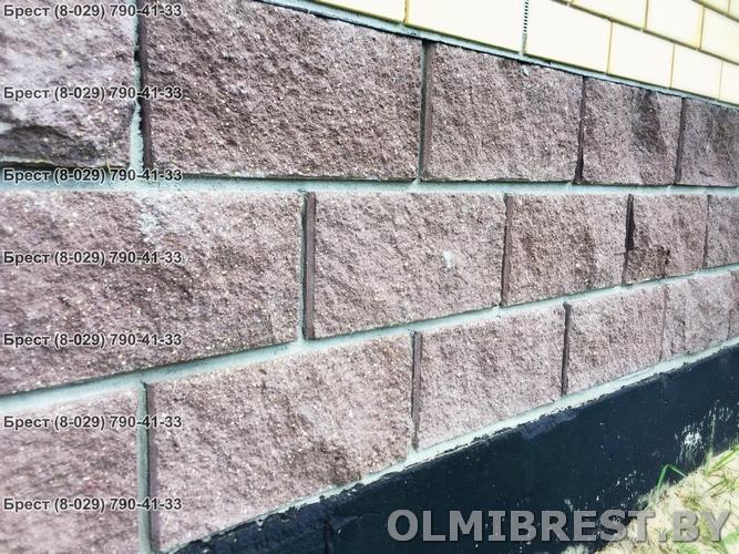 Блок демлер фото коричневый 20х20х40 декоративный фундамент три ряда