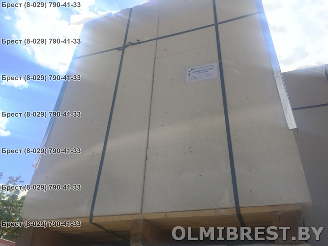 Фото 1 поддона газосиликатных блоков