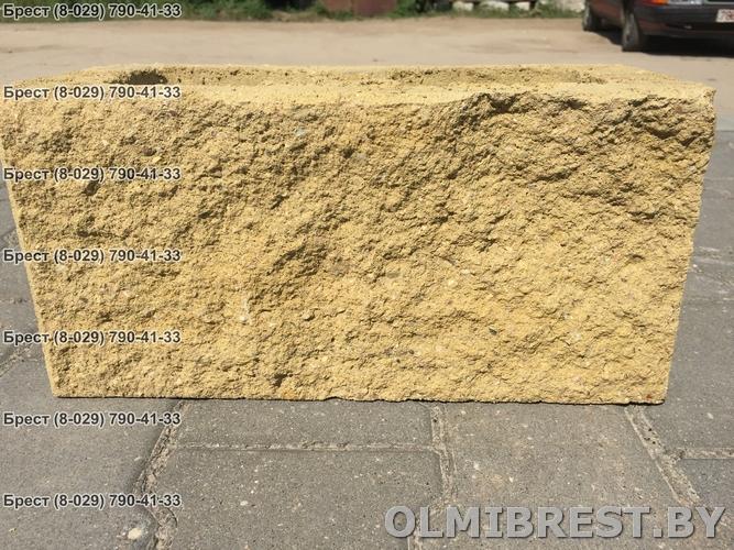 Блок демлер фото жёлтый 20х20х40 декоративный вид спереди