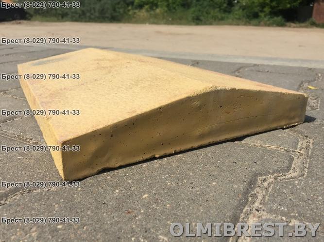 Парапет на отмостку из блоков размер 40х27