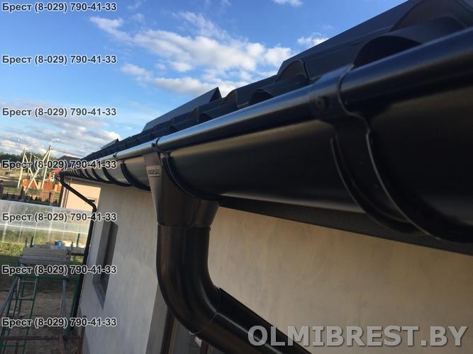 Водосточная система Grand Line RAL 9005 цвет чёрный фото в Бресте
