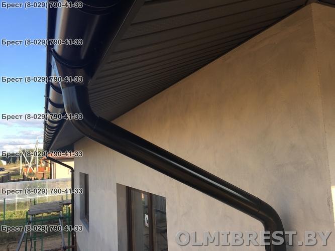 Водостоки Grand Line RAL 9005 цвет чёрный фото в Бресте