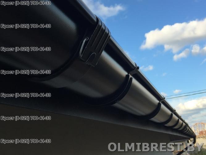 Водосток Grand Line RAL 9005 цвет чёрный фото в Бресте