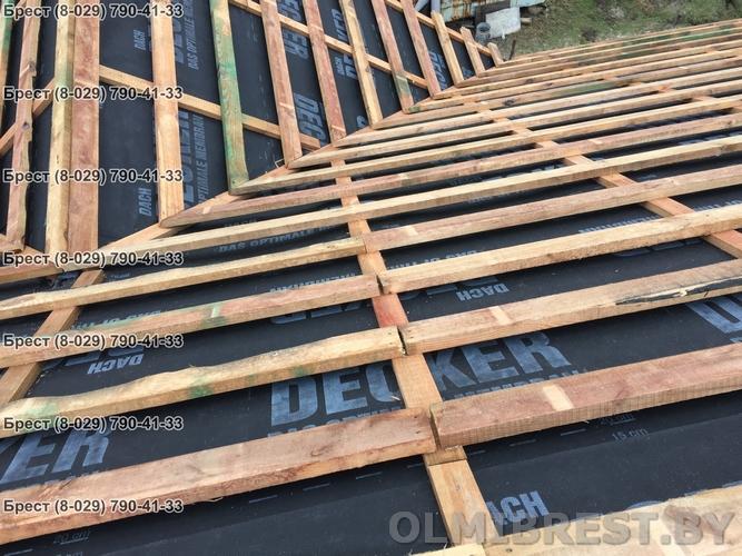 Монтаж супердиффузионной мембраны для крыши Decker 135 в Бресте