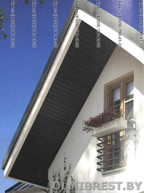 Соффит VOX SV-07 и SV-08 Графитовый фото на доме