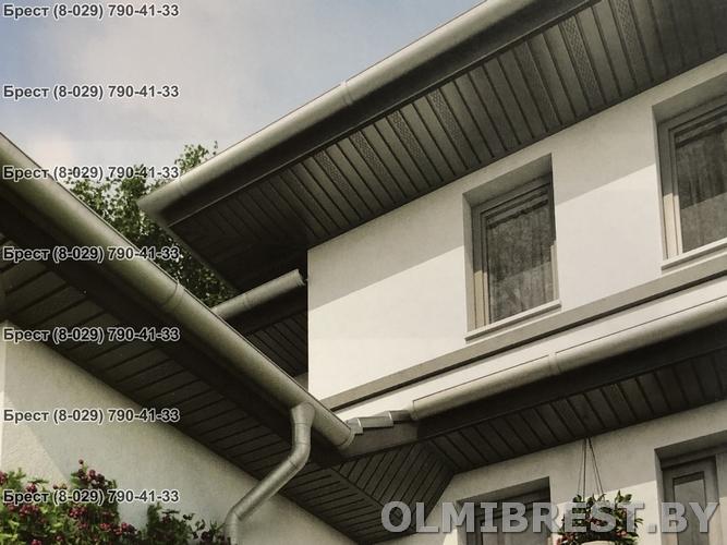 Соффит VOX SV-07 Графитовый с перфорацией фото на доме