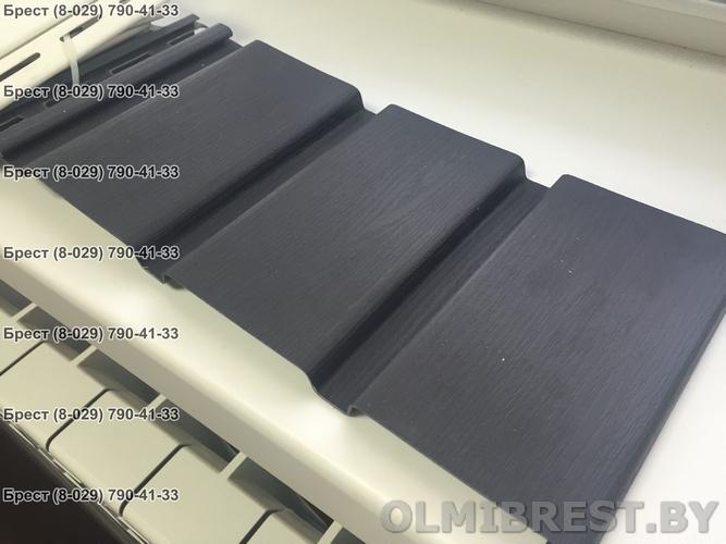 Фото соффита VOX SV-08 серый графит без перфорации