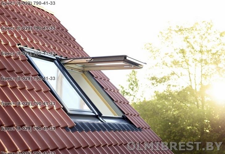 Фото мансардное окно Velux GPL в Бресте