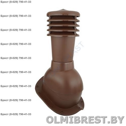 Труба вентиляционная Kronoplast KBN 1-1 для металлочерепицы коричневый RAL 8017