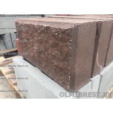 Коричневые блоки демлер в Бресте размер 8,5х20х40