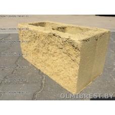 Блоки демлер в Бресте декоративные жёлтые размер 20х20х40