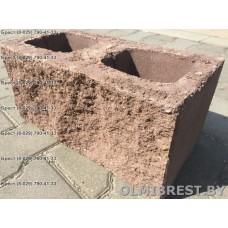 Блоки демлер в Бресте декоративные коричневые размер 20х20х40
