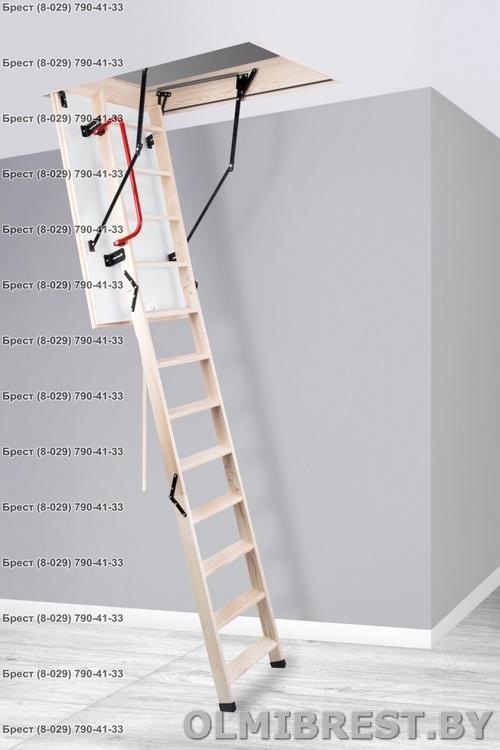 Деревянная чердачная лестница в Бресте